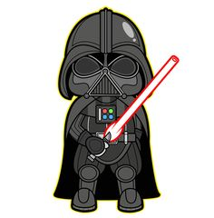 Star Wars Kawaii Saga - Star Wars Poster - Ideas of Star Wars Poster - - Darth Vader Darth Vader Star Wars, Darth Vader Cartoon, Lego Do Star Wars, Darth Vader Clipart, Lego Star, Darth Maul, Star Wars Meme, Star Wars Quotes, Star Trek