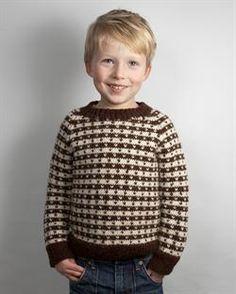 Klassisk Drengesweater med lus | Strikkebogen.dk