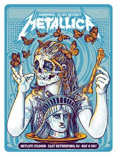 My process of putting together this poster for Metallica. Metallica Art, Metallica Concert, Cover Art, Rock Vintage, Rock Band Posters, Vintage Music Posters, Vintage Design Poster, Kunst Poster, Arte Pop