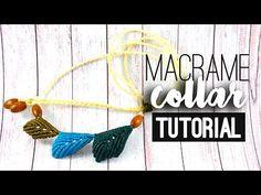 Collar con hojas ♥︎ macramé | Tutorial | How to - YouTube