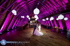Heather and Jonathan enjoying a private dance at the Barn.  Floriography did the flowers, decorations, and Chinese lanterns.  @AZiccardi  #PeronaFarms #barnwedding #anthonyziccardistudios