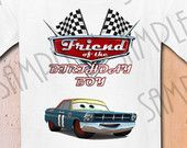 T-shirt Disney Cars Party Ideas Custom Iron On Transfer Printable Birthday Boy Friend Cars Aplique digital download Personalized Pixar