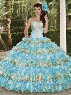 See extra ideas about Quinceanera Quinceanera Guide - Quinceanera Dresses In Autumn Shades. Select one of these quinceanera gowns for the big day of yours! Quince Dresses, 15 Dresses, Pretty Dresses, Blue Ball Gowns, Blue Gown, Pretty Quinceanera Dresses, Modest Wedding Gowns, Disney Princess Dresses, Beautiful Gowns