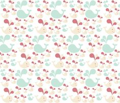 Whale of a Tale fabric by firedryad1 on Spoonflower - custom fabric #spoonflower #fabric #wallpaper #giftwrap #whales #spring #ocean
