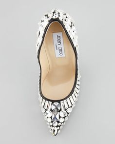 Naughty Gal Shoes : Jimmy Choo Tia Pointy-Toe Jewel Pump