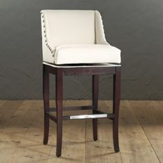 Marcello Barstool with Pewter Nailhead Trim | European-Inspired Home Furnishings | Ballard Designs