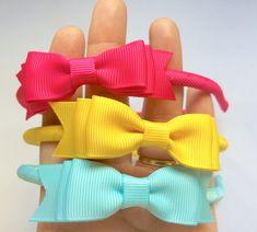 Kit com 3 tiarinhas- laço gravata triplo = 8 cm x 2,2cm  Pode ser feito nas cores apresentaras no anúncio