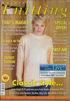 Machine Knitting Monthly magazine March 2007 Issue 110 baby jacket sweater toy