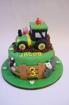 Tractor Birthday Cake cakepins.com