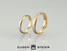 Trauringe / Eheringe 18 k rose gold und weissgold von Eugen Steier auf DaWanda.com