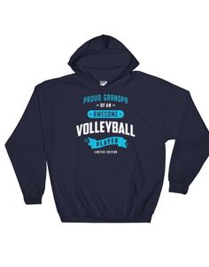 Proud granda of an awesome volleyball player – Hoody Volleyball Store, Volleyball Outfits, Volleyball Shirts, Volleyball Players, Custom Shirts, Hoodies, Awesome, Mens Tops, T Shirt
