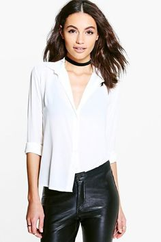 8aea6451d3f6 (eBay link) Boohoo Bonnie Woven Shirt White Size UK 6-8 rrp 16