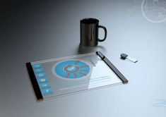 Thomas Laenner Transparent Tablet Concept #techgadgets #mostamazinggadgets