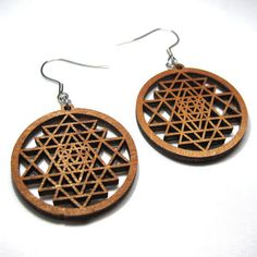Check out this item in my Etsy shop https://www.etsy.com/uk/listing/458805416/sri-yantra-wooden-earrings-sacred