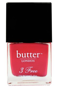 Love that it's free of the bad stuff. butter LONDON '3 Free' Nail Lacquer.