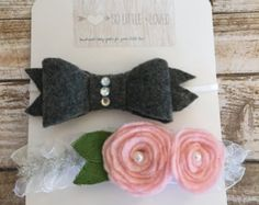 Here at Little fLOhRA we LOVE simplicity and felt flower headbands for our baby girls that can be worn everyday. [ Extra Info ] Material: 100% Wool Felt, Nylon Elastic Headband .... Size: ONE SIZE FITS ALL (infant to adult) You will love how stretchy and soft the nylon is! ..... Featured Colors: Thistle w/ Avocado green leaves .... Quantity: One Crown