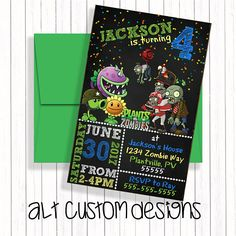 Where the Wild Things Are Invitation - Wild Things Birthday Invitation - Wild Rumpus Birthday - Where the Wild Things Are Invite Zombie Birthday Parties, Zombie Party, Party Ideas, Gift Ideas, Rsvp, Joseph, Pastel, Etsy, Plants