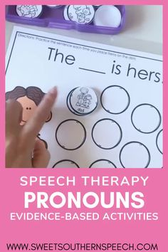 Teaching Pronouns In Speech Therapy