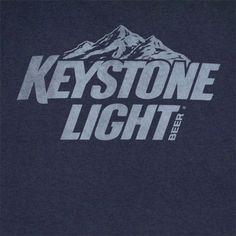 Keystone Light Distressed Logo Dark Blue Graphic Tee Shirt - http://xteereme.com/latest/keystone-light-distressed-logo-dark-blue-graphic-tee-shirt/