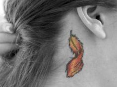 Phoenix Feather Tattoo