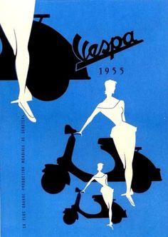 MOTO 74: Vespa pubblicità - 1955