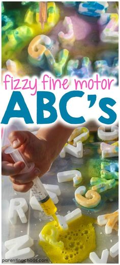 These Fizzy Fine Motor ABC's Ice Cubes were a fun way to cool down while working on our letter recognition.