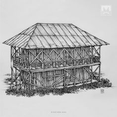AFSHIN AMINI ART STUDIO | #AfshinAminiArt #PenAndInkDrawing #Sketchbook #Art #Architecture #Drawing #Sketching #PenDrawing #InkDrawing Vernacular Architecture, Futuristic Architecture, Medieval, Rural House, House Sketch, Ink Pen Drawings, Drawing Artist, Fantasy Women, Fish Art