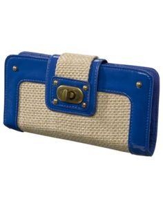 Xhilaration Blue Straw Wallet