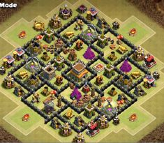 OMG These anti dragon base designs are really cool because of which dragons stopped flying after seeing this town hall 8 base layouts and killed themselves. Clash Of Clans Levels, Clash Of Clans Game, Clash Of Clans Android, Clas Of Clan, Dragon Base, Level 8, Clash Royale, Town Hall, War