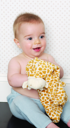 Cute Baby with Angel Dear Security Blanket