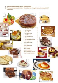 Learning Videos Language Student To Learn French Dutch Braids Desserts Français, Delicious Desserts, Learn French Fast, French Alphabet, Food Vocabulary, French Patisserie, French Classroom, French Resources, French Lessons