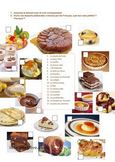 les desserts préférés des Français