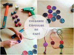 DIY colgantes con cápsulas de café recicladas