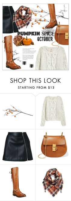 """""""Pumpkin spice"""" by smallbeautymonsters ❤ liked on Polyvore featuring Improvements, Guild Prime, Chloé, Wanted, BP., Halloween, orange, women and pumpkinspice"""