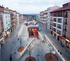 Domingo Gascon Square in Teruel, Spain; an underground leisure lair buried underneath a public square