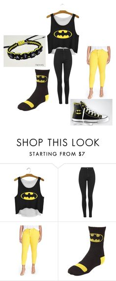 batgirl in style by alexalivar on Polyvore featuring CJ by Cookie Johnson, Topshop, Converse, women's clothing, women's fashion, women, female, woman, misses and juniors