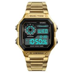 Waterproof Digital Wristwatch High End Watches, Casual Watches, Elegant Watches, Mens Sport Watches, Watches For Men, Wrist Watches, Popular Watches, Waterproof Sports Watch, Waterproof Watches