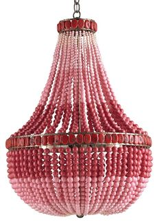 I am not sure where this would go (Office?) but it's so fantastic! Flamingo Chandelier | Currey & Company