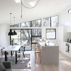 Image de design, home, and interior Stil Inspiration, Interior Inspiration, Kitchen Interior, Kitchen Design, Kitchen Modern, Open Kitchen, Kitchen Island, Estilo Interior, Interior Decorating