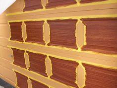 How to paint garage door to look like wood!