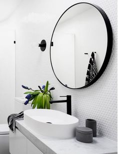 Phoenix Tapware Vivid Slimline Vessel Mixer | matte black taps | bathroom inspiration | Photography Martina Gemmola and Interior design GIA Bathrooms and Kitchens