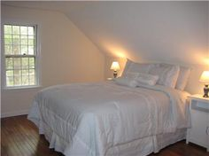 simple idea for a guest bedroom in an upstairs bedroom in a cape cod house
