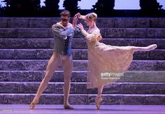 ST PETERSBURG, RUSSIA. Principal dancers of The Royal Ballet (United Kingdom) - Canadian dancer Matthew Golding and US dancer Sarah Lamb and (L-R) - in a scene from the Perm Tchaikovsky Opera and Ballet Theatre's production of the ballet Romeo and Juliette at St Petersburg's the Alexandrinsky Theatre. The event is part of the 2016 Dance Open International Ballet Festival. Ruslan Shamukov/TASS