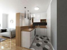 Osiedle Buncha, Kraków - Średnia otwarta kuchnia w kształcie litery u w aneksie, styl skandynawski - zdjęcie od Good Place For Living