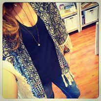 """Boho kimono """"victo"""" with offwhite cotton tassels"""