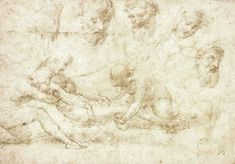 Studies for a Deposition by Raphael Poster Wall, Custom Framing, Wall Art, Prints, Painting, Raffaello, Painting Art, Paintings, Painted Canvas