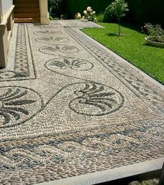 Flawless 17 Extraordinary Mosaic Garden Path Design Ideas To Your Garden Beautiful If you have a garden in your home, and the park is large enough, then you definitely have a garden path that you should pay attention to this time. Path Design, Landscape Design, Garden Design, Design Ideas, Design Inspiration, Pebble Mosaic, Stone Mosaic, Rock Mosaic, Mosaic Pots