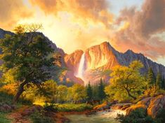 Natural scenery diamond painting cross stitch Rhinestones Square full mosaic Diamond embroidery crafts home decor pictures Cross Paintings, Nature Paintings, Landscape Paintings, Landscapes, Nature Background Images, Fantasy Background, Images Of Squirrels, Background Screensavers, Sunset Images