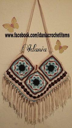 DIY,,como hacer un bolso de anillos de lata estilo granny,,muy facil de hacer..aqui pongo el link de el cuadro de anillos. http://youtu.be/FW60fmzW3FA aqui e...