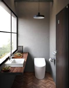 Excite Your Site visitors with These 14 Adorable Half-Bathroom Styles Bad Inspiration, Bathroom Inspiration, Bathroom Styling, Bathroom Interior Design, Small Bathroom Wallpaper, Ideas Baños, Muji Home, Cheap Bathroom Remodel, Dual Flush Toilet